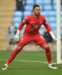 MARK BEEVERS MILLWALL, JORDAN ARCHER GOALKEEPER MILLWALL, Coventry City v Millwall Sky Bet League One, Ricoh Arena, Saturday 16th April 2016<br /> Score 2-1