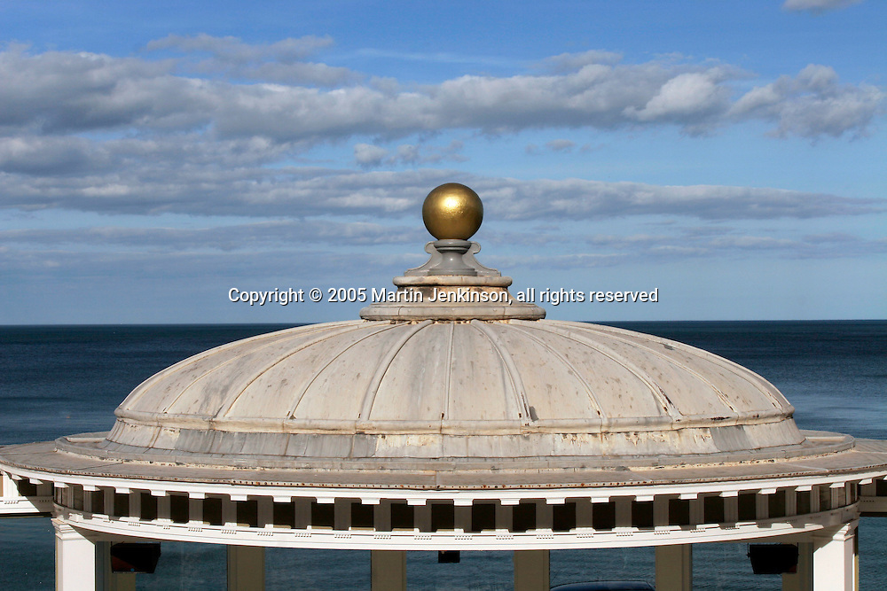 Golden ball on domed roof Spa complex Scarborough ..., Travel, lifestyle