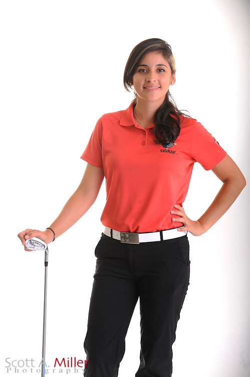 Juliana Murcia Ortiz during a portrait shoot prior to the Symetra Tour's Florida's Natural Charity Classic at the Lake Region Yacht and Country Club on March 21, 2012 in Winter Haven, Fla. ..©2012 Scott A. Miller.