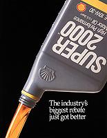 Shell Oil ad, Super 2000 oil pour