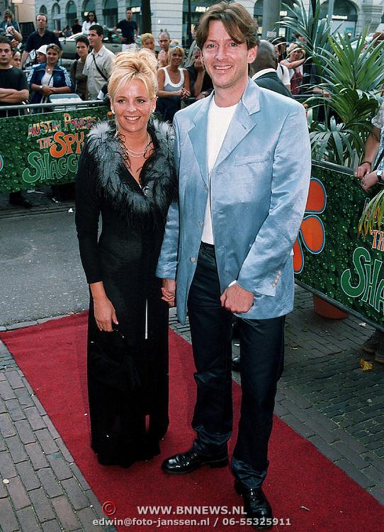 Premiere Austin Powers Amsterdam, Erik de Zwart en vrouw Marike van der Brink