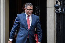 London, UK. 7 January, 2020.  Alok Sharma, Secretary of State for International Development, leaves 10 Downing Street following a Cabinet meeting.