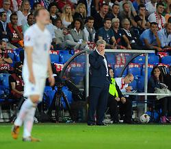 England Manager, Roy Hodgson watches his team - Photo mandatory by-line: Joe Meredith/JMP - Mobile: 07966 386802 - 08/09/14 - SPORT - FOOTBALL - Switzerland - Basel - St Jacob Park - Switzerland v England - Uefa Euro 2016 Group E Qualifier