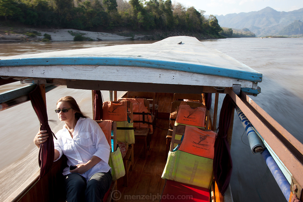 On the Mekong River near Luang Prabang, Laos. On the way to Pak Ou (also called Tam Ting) Caves.