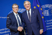 Antonio TAJANI - EP President meets with Meeting with Bill Gates, co-chair of the Bill & Melinda Gates Foundation
