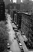 """View from Manhattan Bridge. Lower East Side / Chinatown...Part of long-term (2005-2008) story """"I See A Darkness"""". New York, NY."""