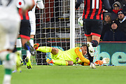 Artur Boruc (1) of AFC Bournemouth makes a save during the EFL Cup 4th round match between Bournemouth and Norwich City at the Vitality Stadium, Bournemouth, England on 30 October 2018.