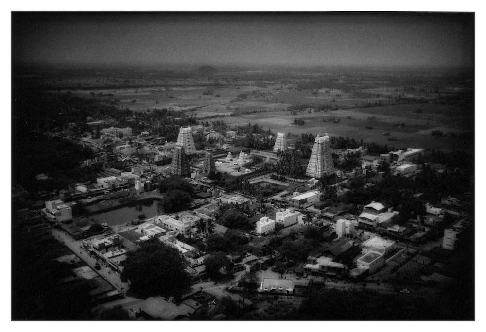 Tamil Hindu Temple at Tirukkalikundram, Tamil Nadu.