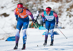 March 17, 2018 - Pyeongchang, South Korea - Jake Adicoff and guide Sawyer Kesselheim during the 10km Visually Impaired Cross Country event Saturday, March 17, 2018 at the Alpensia Biathlon Center at the Pyeongchang Winter Paralympic Games. Photo by Mark Reis (Credit Image: © Mark Reis via ZUMA Wire)