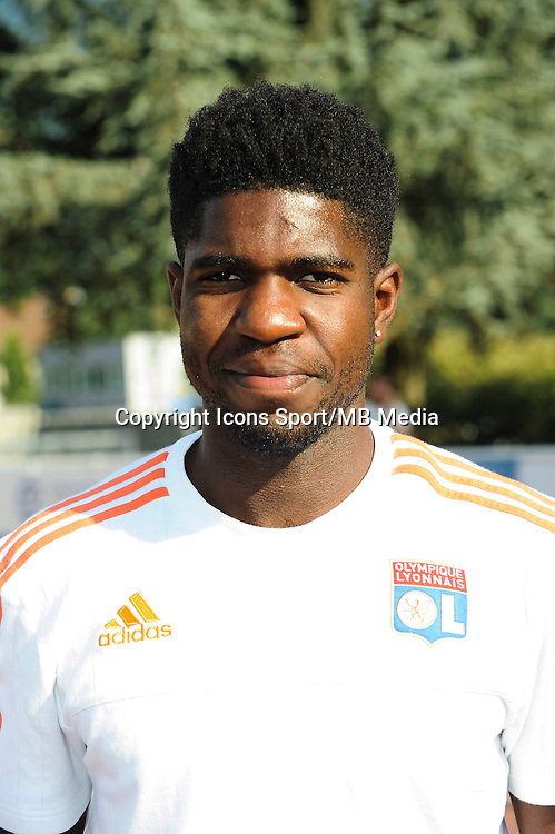 Samuel Umtiti - 15.07.2015 - Lyon / PSV Eindhoven - Valais Cup<br /> Photo : Jean Paul Thomas / Icon Sport
