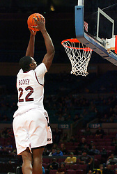 Nov 21, 2008; New York, NY, USA; Southern Illinois Salukis forward Anthony Booker (22) dunks the ball during first half action of the 2K Sports Classic consolation game against UCLA at Madison Square Garden.