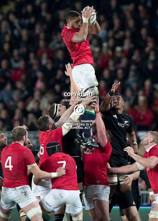 Taulupe Faletau during game 7 of the British and Irish Lions 2017 Tour of New Zealand, the first Test match between  The All Blacks and British and Irish Lions, Eden Park, Auckland, Saturday 24th June 2017<br /> (Photo by Kevin Booth Steve Haag Sports)<br /> <br /> Images for social media must have consent from Steve Haag