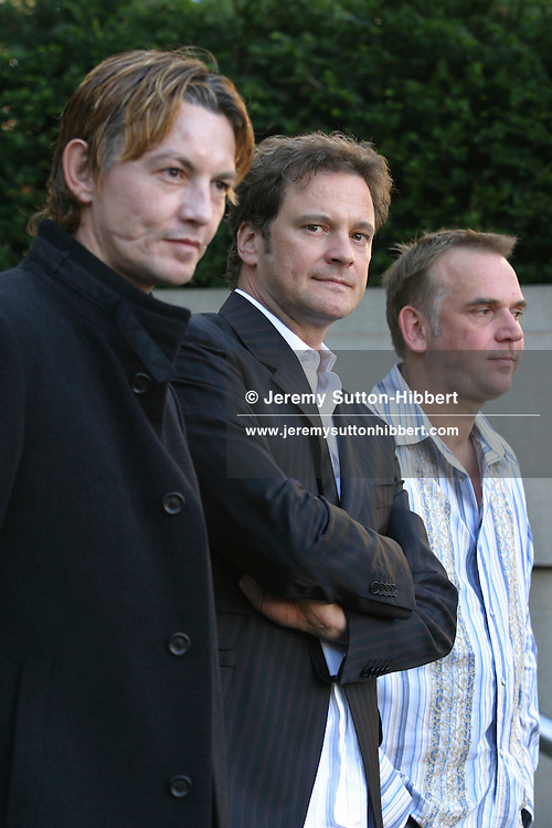 "Marc Evans, director (on right), with actors Colin Firth (centre) and Tommy Flanagan (left), at Edinburgh Film festival premiere of their new film ""Trauma""..(9  pictures, non-exclusive)"