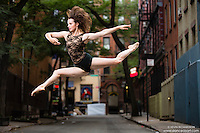 Streets of New York City Dance As Art Photography Project in West Village featuring Kathryn Mulcahey