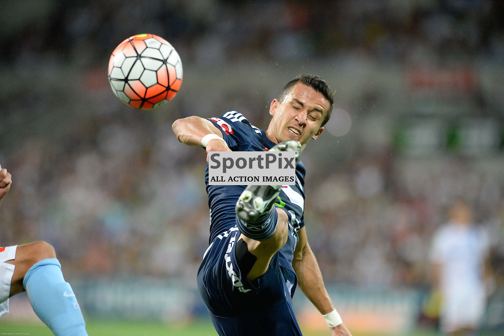 Daniel Georgievski of Melbourne Victory - Hyundai A-League, 19th December 2015, RD11 match between Melbourne City FC v Melbourne Victory FC at Aami Park in a 2:1 win to City in front of a 23,000+ crowd. Melbourne Australia. © Mark Avellino | SportPix.org.uk