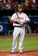 Boston left fielder Manny Ramirez during the game between the Atlanta Braves and the Boston Red Sox at Turner Field in Atlanta, GA on June 19, 2007..