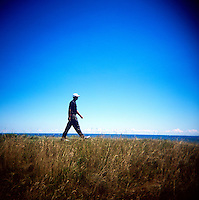 Tiger Woods walks down a fairway at round 3 of the PGA championship at Whistling Straits Saturday Aug. 14, 2004 Haven Wi.     Photo Darren Hauck.................................................................................