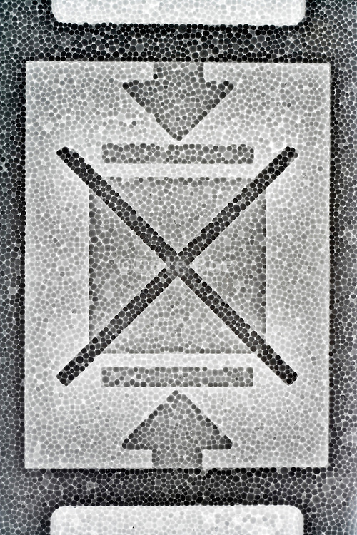 do not stack symbol on styrofoam material