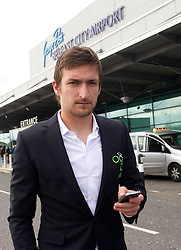Armin Bacinovic at arrival of Slovenia's National football team to Belfast, Northern Ireland for EURO 2012 Quaifications game between National teams of Slovenia and Northern Ireland, on March 28, 2011, at George Best Belfast City Airport, Northern Ireland, United Kingdom. (Photo by Vid Ponikvar / Sportida)