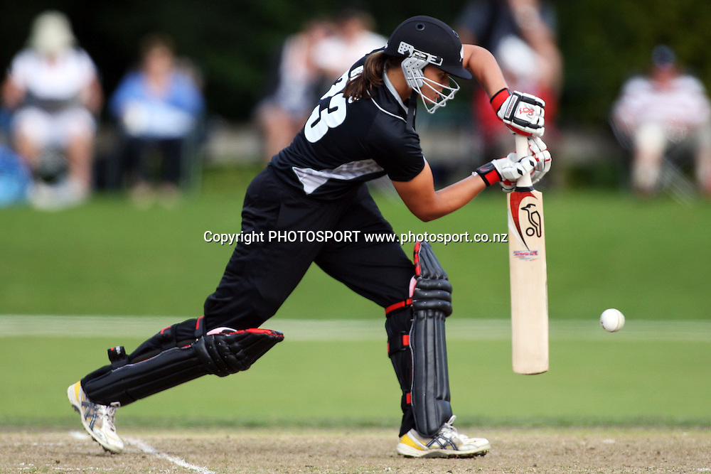 Suzie Bates batting, New Zealand White Ferns v Australia, Rosebowl cricket series, One day international, Queens Park, Invercargill. 7 March 2010. Photo: William Booth/PHOTOSPORT
