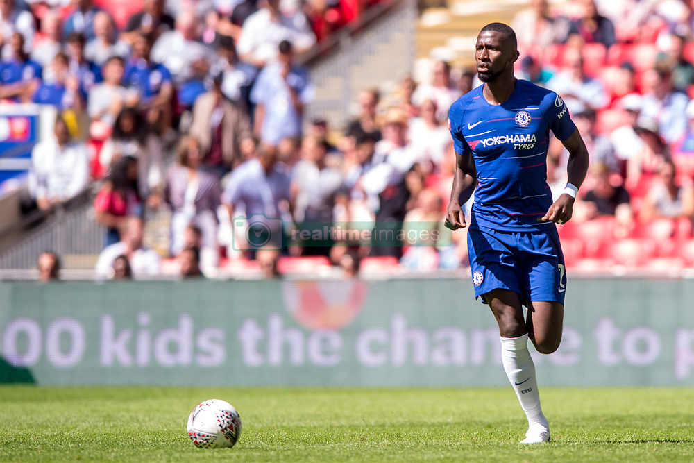August 5, 2018 - Antonio Rudiger of Chelsea during the 2018 FA Community Shield match between Chelsea and Manchester City at Wembley Stadium, London, England on 5 August 2018. (Credit Image: © AFP7 via ZUMA Wire)