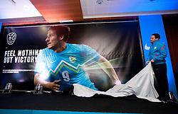 Slavisa Stojanovic, head coach during presentation of new Nike jerseys of Slovenian Nathional Football Team, on February 28, 2012 in Grand Hotel Metropol, Portoroz, Slovenia.  (Photo By Vid Ponikvar / Sportida.com)