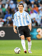 CAPE TOWN, SOUTH AFRICA- Saturday 3 July 2010, Nicolas Burdisso during the quarter final match between Argentina and Germany held at the Cape Town Stadium in Green Point during the 2010 FIFA World Cup..Photo by Roger Sedres/Image SA
