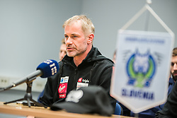 Ivo Jan,  head coach during press conference of Slovenia Ice Hockey Team before friendly games against Hungary, Italy and Belarus, on February 4, 2019 in Bled, Slovenia. Photo by Peter Podobnik / Sportida