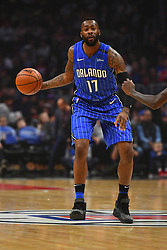 January 6, 2019 - Los Angeles, CA, U.S. - LOS ANGELES, CA - JANUARY 06: Orlando Magic Forward Jonathon Simmons (17) brings the ball up the court during a NBA game between the Orlando Magic and the Los Angeles Clippers on January 6, 2019 at STAPLES Center in Los Angeles, CA. (Photo by Brian Rothmuller/Icon Sportswire) (Credit Image: © Brian Rothmuller/Icon SMI via ZUMA Press)