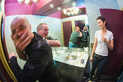 "Rory Miller takes the seminar into the ladies bathroom. The Institute of Krav Maga Scotland had renowned Conflict Management expert and best selling author, Rory Miller, sharing his unique insight on the dynamics of violence, scenario based training, at an ""In The Club"" seminar based at The Buff Club, in Glasgow City Centre. The seminar brings Krav Maga training outwith the confines of the gym and into a real nightclub/bar."