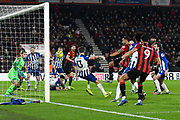 Goal - Callum Wilson (13) of AFC Bournemouth scores a goal to give a 2-0 lead during the Premier League match between Bournemouth and Brighton and Hove Albion at the Vitality Stadium, Bournemouth, England on 21 January 2020.