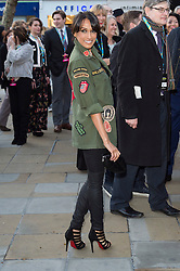© Licensed to London News Pictures. 04/04/2016 JACKIE ST CLAIR attends The Rolling Stones Exhibition Private at The Saatchi Gallery. London, UK. Photo credit: Ray Tang/LNP