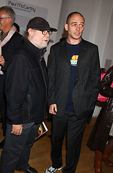Left to right, artists PAUL McCARTHY and DINOS CHAPMAN at an opening party for artist Paul McCarthy's exhibition 'LaLa Land Parody Paradise' held at the Whitechapel Gallery, 80-82 Whitechapel High Street, London E1 on 22nd October 2005.<br /><br />NON EXCLUSIVE - WORLD RIGHTS