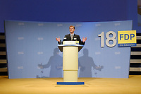 08 SEP 2002, BERLIN/GERMANY:<br /> Guido Westerwelle, FDP Bundesvorsitzender, waehrend seiner Rede, FDP Bundesparteitag, Hotel Estrell<br /> IMAGE: 20020908-01-069<br /> KEYWORDS: party congress, speech