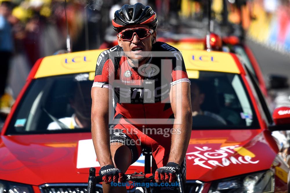 Greg Van Avermaet of Team BMC wins stage 5 of the Tour de France at La Lioran, France.<br /> Picture by Focus Images/Focus Images Ltd 07814 482222<br /> 06/07/2016