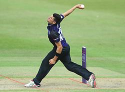 Benny Howell of Gloucestershire bowls  - Photo mandatory by-line: Dougie Allward/JMP - Mobile: 07966 386802 - 14/07/2015 - SPORT - Cricket - Cheltenham - Cheltenham College - Natwest T20 Blast