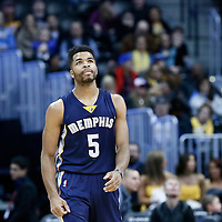 01 February 2016: Memphis Grizzlies guard Andrew Harrison (5) is seen during the Memphis Grizzlies 119-99 victory over the Denver Nuggets, at the Pepsi Center, Denver, Colorado, USA.