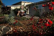 Steve Roeder's front-yard ocean-friendly garden in La Jolla is the result of the landscaping effort of 40 Surfrider volunteers in June.