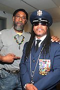 17 May 2011- New York, NY -  l to r: Hip Hop Icons Kool Herc and Melle Mel backstage at the Kool Herc Tribute  and Melle Mel Birthday Celebration Produced by Jill Newman Productions and held at BB Kings on May 17, 2011 in New York City. Photo Credit: Terrence Jennings