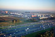 De A4 bij Hoofddorp gezien vanuit het vliegtuig.<br /> <br /> The A4 near Hoofddorp.