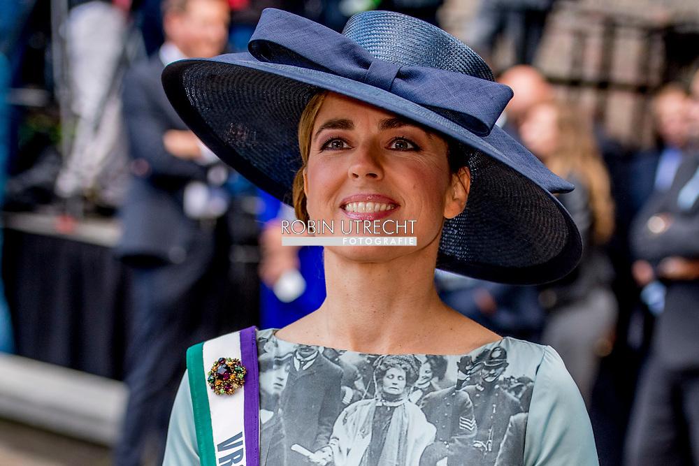 DEN HAAG - Fractievoorzitter Marianne Thieme (PvdD) arriveert bij de Ridderzaal op Prinsjesdag. ROBIN UTRECHT