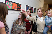 College of Education K-12 art unveiling at McCracken Hall. Thursday, 1/18/07.