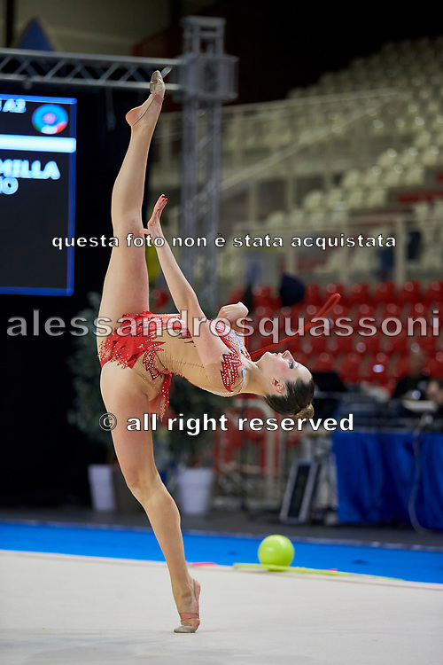 Camilla Cavaliere from Flaminio team during the Italian Rhythmic Gymnastics Championship in Padova, 25 November 2017.
