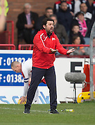 Dundee manager Paul Hartley - Dundee v Rangers in the Ladbrokes Scottish Premiership at Dens Park, Dundee.Photo: David Young<br /> <br />  - © David Young - www.davidyoungphoto.co.uk - email: davidyoungphoto@gmail.com