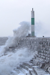 © Licensed to London News Pictures. 27/12/2013. Aberystwyth, UK 80mph plus winds hit the Welsh coastal town of Aberystwyth. Photo credit : Jon Freeman/LNP