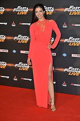 © Licensed to London News Pictures. 19/01/2018. London, UK. ALICIA WREN attends the world premiere of Fast & Furious live show at the O2. Cars will perform stunts and scenes capturing the spirit of the film series. Photo credit: Ray Tang/LNP