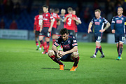 8th May 2018, Global Energy Stadium, Dingwall, Scotland; Scottish Premiership football, Ross County versus Dundee; Ross Draper of Ross County dejected at full time