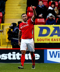 Josh Magennis of Charlton Athletic celebrates scoring a goal - Mandatory by-line: Robbie Stephenson/JMP - 02/01/2017 - FOOTBALL - The Valley - Charlton, London, England - Charlton Athletic v Bristol Rovers - Sky Bet League One