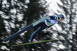 12.01.2014, Kulm, Bad Mitterndorf, AUT, FIS Ski Flug Weltcup, Erster Durchgang, im Bild Manuel Poppinger (AUT) // Manuel Poppinger (AUT) during the first round of FIS Ski Flying World Cup at the Kulm, Bad Mitterndorf, .Austria on 2014/01/12, EXPA Pictures © 2013, PhotoCredit: EXPA/ Erwin Scheriau