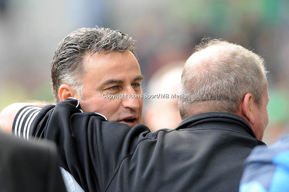 Christophe GALTIER / Rolland COURBIS - 26.04.2015 - Saint Etienne / Montpellier - 34eme journee de Ligue 1<br />